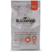 【BLACKWOOD】柏萊富無穀全齡低敏挑嘴配方鮭魚+豌豆-5磅