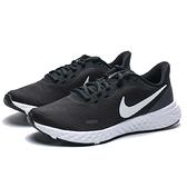 NIKE REVOLUTION 5 黑白 基本款 運動 健身 慢跑鞋 女 (布魯克林) BQ3207-002