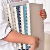 側翻線圈本b5加厚記事本子韓國 大號筆記本文具16K小清新本子簡約 薔薇時尚