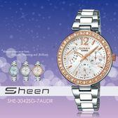 【人文行旅】Sheen | SHE-3042SG-7AUDR 閃耀奢華女錶