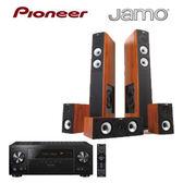 經典數位~Pioneer 7.2聲道AV環繞擴大機+JAMO 5聲道喇叭組(木紋) VSX-LX101-B~