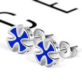 純銀十字架耳釘男士耳環學生單只防過敏