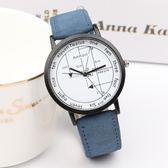 手錶 韓版原宿風時尚簡約潮流復古大錶盤男女學生手錶新款學霸情侶腕錶 芭蕾朵朵