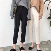 蘿卜褲休閒煙管褲寬鬆哈倫褲潮小腳窄管西裝褲子九分直筒西裝褲女 消費滿一千現折一百