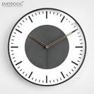 客廳掛鐘現代簡約北歐時尚家用創意掛表靜音掛墻石英鐘表
