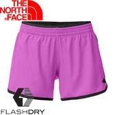 【The North Face 女 FLASHDRY 4吋短褲 桃粉紫/黑】 0A2RH5/休閒短褲/快乾短褲/短褲★滿額送