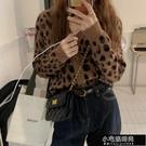 復古時尚豹紋V領開襟針織外套Z11170   【全館免運】