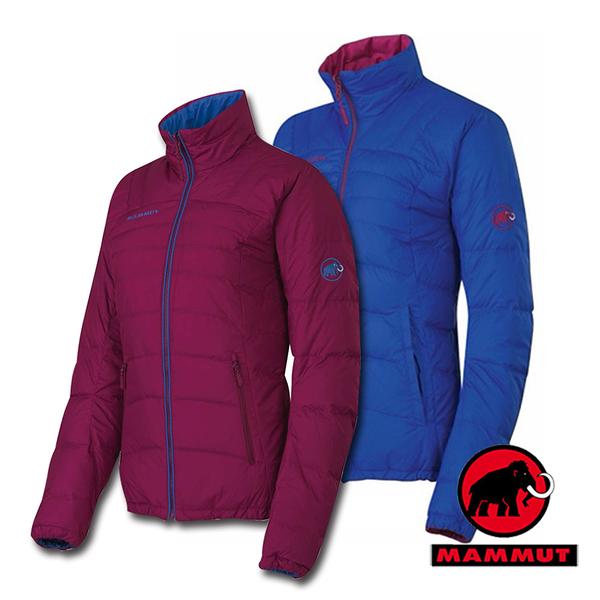 【MAMMUT 長毛象】女 雙面穿羽絨外套 1010-15540『暗紅』Blackfin Jacket Women