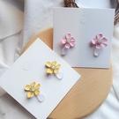【NiNi Me】韓系耳環 氣質甜美水鑽花朵水晶925銀針耳環 耳環 N0519