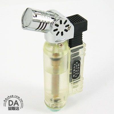 《DA量販店》藍火 防風 噴槍式 造型 電子式點火 可填充 打火機(37-475)