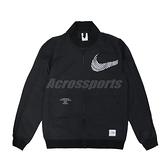 Nike 外套 NSW Woven Jacket 男款 黑 白 梭織夾克 立領【ACS】 DM7900-010