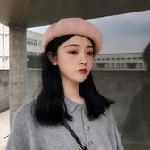 夏季日系文藝純色圈圈紗貝雷帽女立體百搭透氣休閒畫家帽 雙11大促