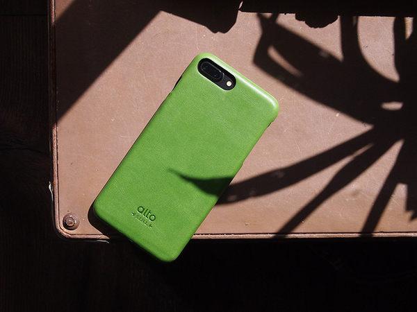 alto iPhone 8 Plus / iPhone 7 Plus 真皮手機殼背蓋 5.5 吋 Original - 萊姆綠【可加購客製雷雕】皮革保護套