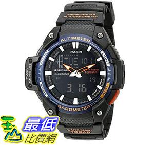 [美國直購] 手錶 Casio Mens SGW-450H-2BCF Twin Sensor Analog-Digital Black Watch