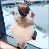 優惠兩天-女童連衣裙春秋裝正韓童裝周歲嬰兒禮服蓬蓬裙女寶寶網紗裙公主裙【限時八八折】