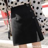 大碼女裝半身裙春季新款潮流行短裙胖mm顯瘦防走光百褶a字裙 艾美時尚衣櫥