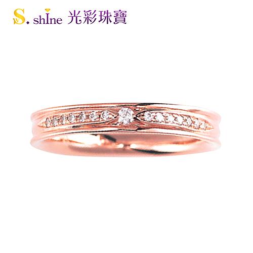 【光彩珠寶】婚戒 日本18K金結婚戒指 女戒 玫瑰珍愛