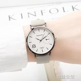 森系時尚個性男女學生情侶手錶女韓版簡約復古小錶盤女錶高中防水