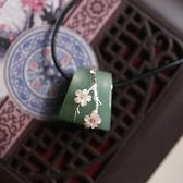 古典東陵玉貝殼花朵純銀項鍊/設計家