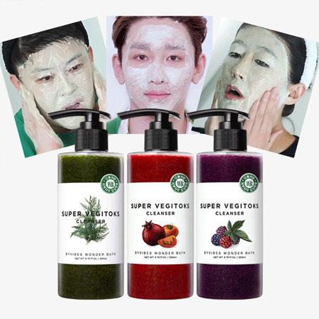 韓國 Wonder bath 蔬果綠茶洗面乳 300ml 潔面乳 洗顏乳 洗面乳 洗臉 清潔 卸妝