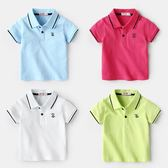 感恩聖誕 兒童POLO衫夏女童嬰兒短袖衣服夏裝夏季新款男童童裝兒童純棉T恤