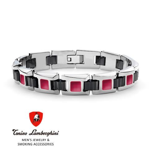 義大利 藍寶堅尼精品 - IL PRIMO Collection 手鍊(紅色) ★ Tonino Lamborghini 原廠進口 時尚必備行頭 ★