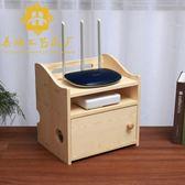 路由器收納盒 實木 桌面客廳三層wifi貓機頂盒置物架插板線整理盒·樂享生活館liv