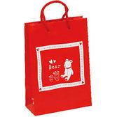 《荷包袋》手提紙袋 4K 紅色泰迪熊 25入