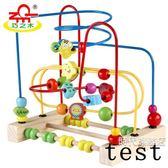 繞珠玩具6-12個月寶寶益智男孩女木制3周歲嬰兒大號兒童串珠玩具 中秋烤肉鉅惠