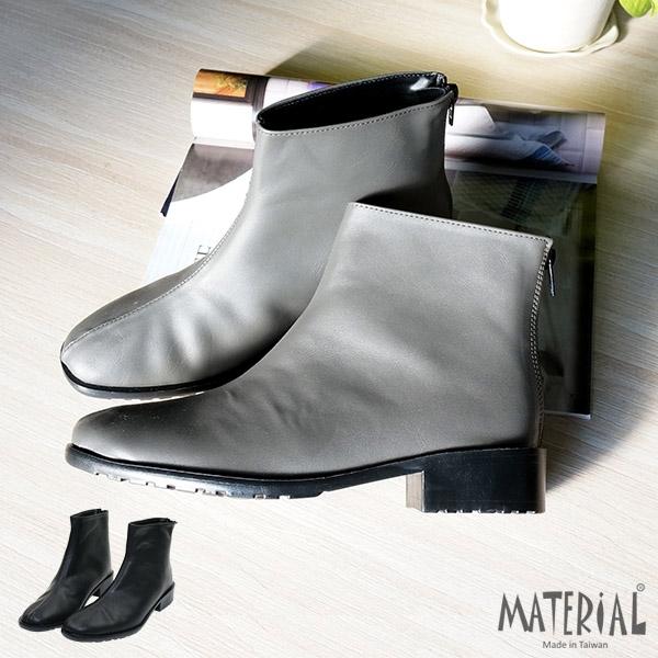 短靴 小方頭素面挺直短靴 MA女鞋 T6193