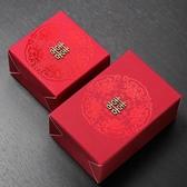 喜糖盒 喜糖盒子婚禮喜糖盒中式喜糖盒紅色 莎拉嘿幼