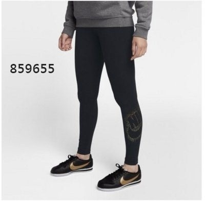 《澤米》耐吉 NIKE 運動褲 女內搭褲 九分褲 彈力褲 859655(全館任二件商品免運費)