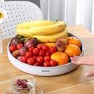 旋轉水果盤客廳家用茶幾網紅現代簡約個性北歐風格瀝水家庭果籃盆 設計師生活百貨