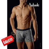 Aubade man-壞男人M舒棉平口褲(皮鞭手銬)