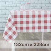 防水桌巾/粉紅方格紋 (XL) 【CasaBella 美麗家居】