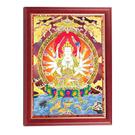 準提佛母木框掛圖33公分  【十方佛教文物】