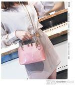 手提包夏天小包包女新款貝殼包夏季漆皮亮面時尚百搭單肩斜挎手提包 99免運