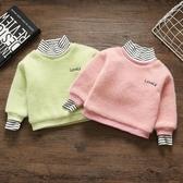 兒童毛衣 女童毛衣2019新款加絨加厚水貂絨洋氣兒童套頭針織衫小童女寶寶潮【限時八折】