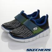 Skechers 黑色 Equalizer 2.0 針織網布 魔鬼氈運動鞋 男童鞋 NO.R1280