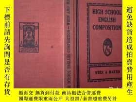 二手書博民逛書店HIGH罕見SCHOOL ENGLISH COMPOSITION