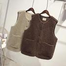 羊羔絨馬甲外套女2020年秋冬季加絨加厚短款一體坎肩寬鬆保暖背心 寶貝計劃