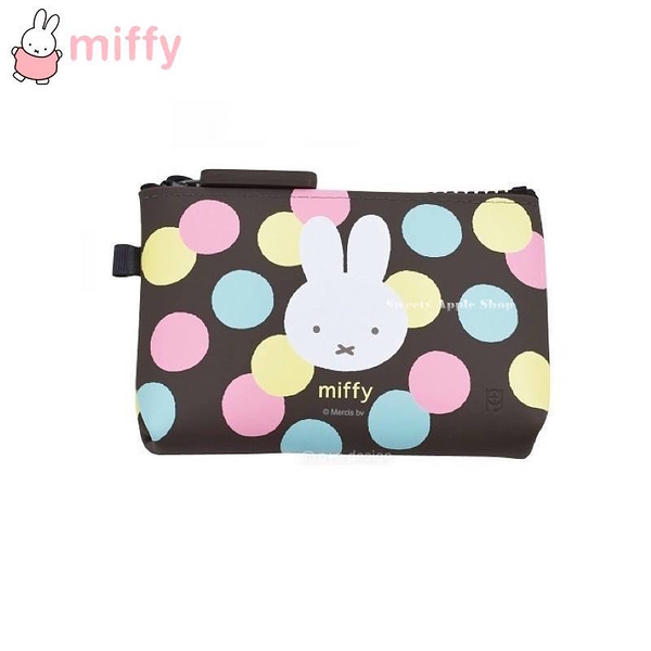 【SAS】日本限定 NUU-small p+g design 米菲兔 米飛兔 miffy 可愛圓點版 收納包 / 化妝包