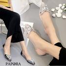 平底鞋.異國時尚尖頭晶鑽平底鞋【KV5299】黑/粉