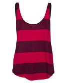 HURLEY|女 運動背心 - 酒紅條紋