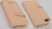 ROCK Apple iPhone 5/iPhone 5S/iPhone SE 側翻手機保護皮套 靜系列 咖啡色