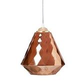 菱格紋玻璃單吊燈