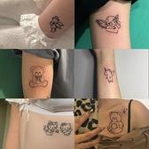 50張紋身貼防水女 持久 小圖案仿真手臂腳裸個性圖騰可愛韓國卡通