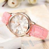 女士手錶國中女學生夜光皮帶錶秋季上新