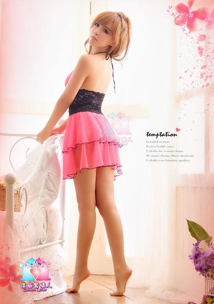【愛愛雲端】性感內衣 性感睡衣 情趣 爆乳 透視 三點式  (桃紅) R2NA13020050