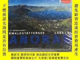 二手書博民逛書店Lucerne罕見lake Vierwaldstattersee Panorama 攝影藝術畫冊 精裝橫開 未拆封